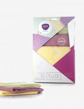 Set 3 panni multiuso in microfibra ELITE Shabby